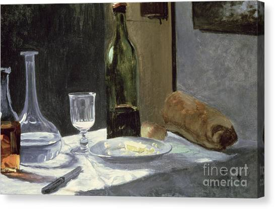 Food And Drink Canvas Print - Still Life With Bottles by Claude Monet
