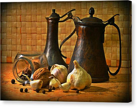 Still Life With Garlic Canvas Print