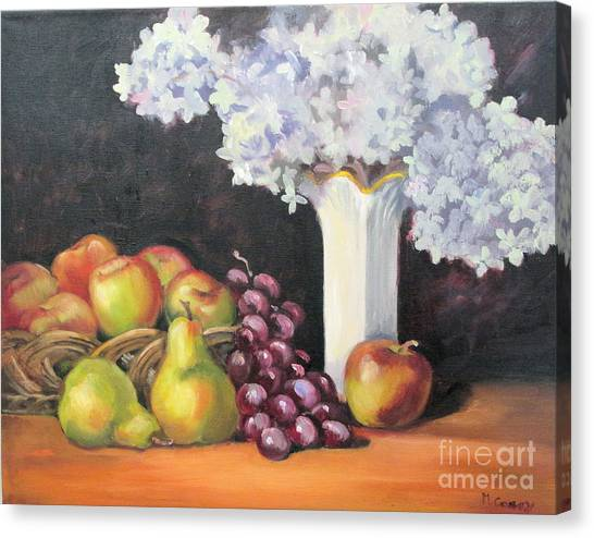 Limelight Canvas Print - Still Life With Hydrangea by Marge Casey