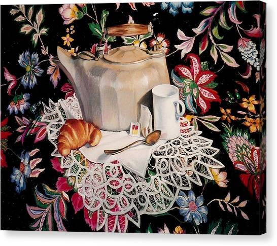 Still Life With Lace Canvas Print