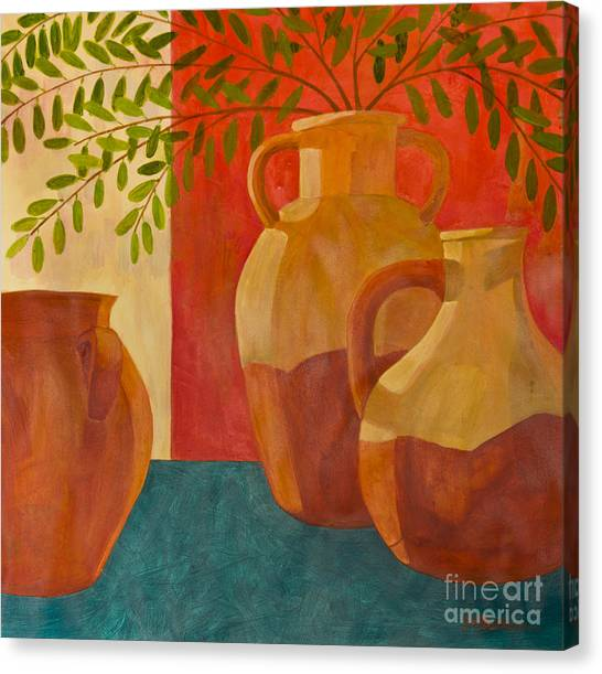 Still Life With Olive Branches I Canvas Print