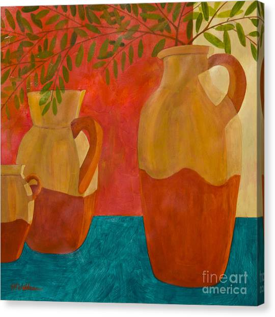 Still Life With Olive Branches II Canvas Print