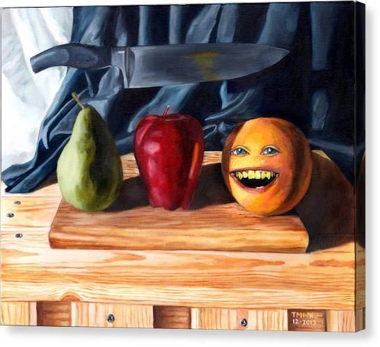 Still Life With Orange No. 3 Canvas Print
