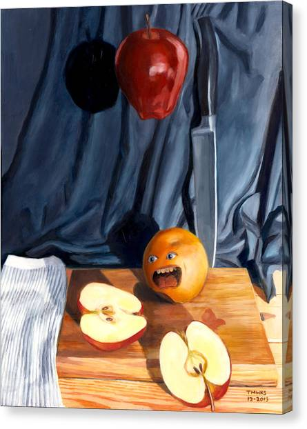 Still Life With Orange  No. 4 Canvas Print