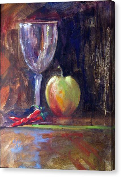 Still Life With Pepper Canvas Print