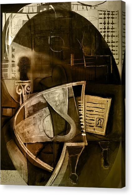 Still Life With Piano And Bust Canvas Print