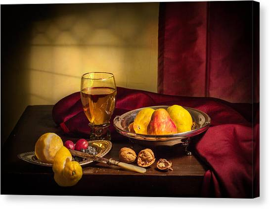 Still Life With Roemer-pears Canvas Print