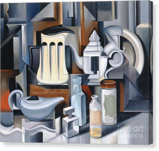 Tea Pot Canvas Print - Still Life With Teapots by Catherine Abel