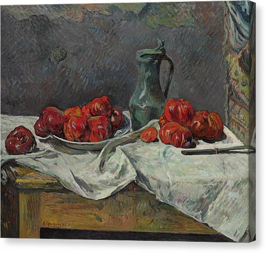 Post-modern Art Canvas Print - Still Life With Tomatoes by Paul Gaugin