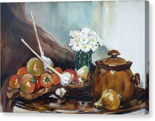 Still Life With Tomatos Canvas Print by Irek Szelag