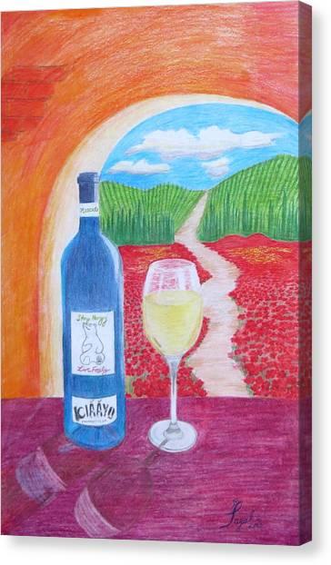 Tuscan Wine Canvas Print