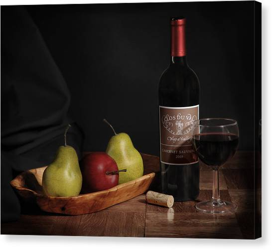 Still Life With Wine Bottle Canvas Print