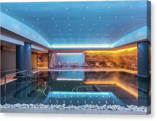 Still Modern Indoor Pool Canvas Print