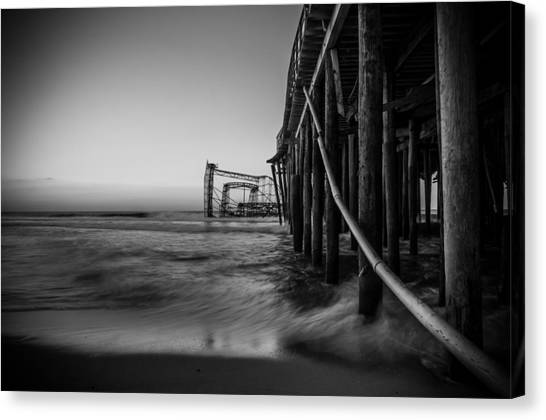 Seaside Heights Canvas Print - Still Need A Ticket To Ride by Kristopher Schoenleber