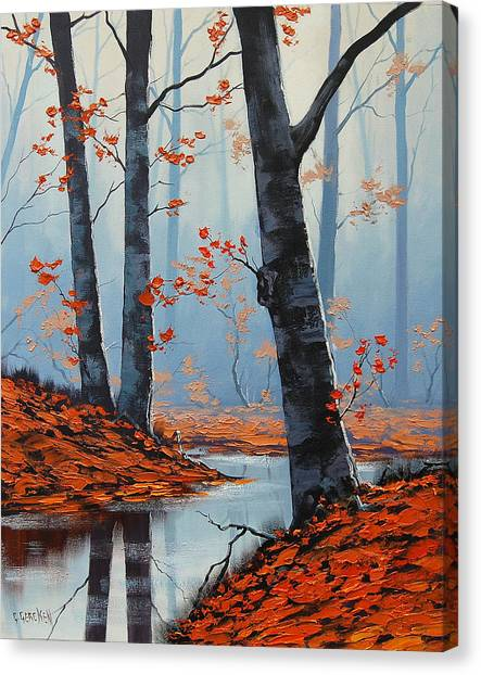 Amber Canvas Print - Still Woodland by Graham Gercken