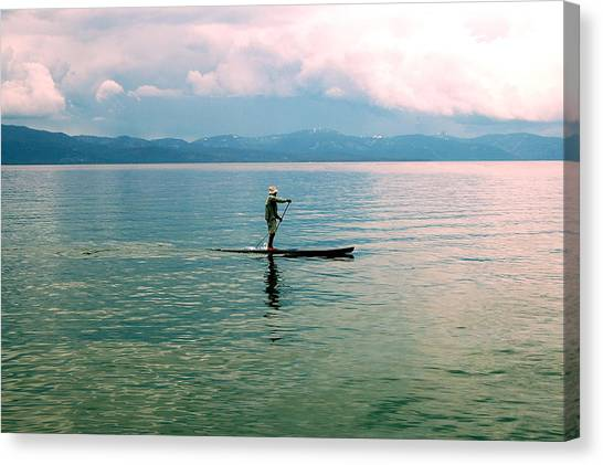 Stillness On The Lake Canvas Print