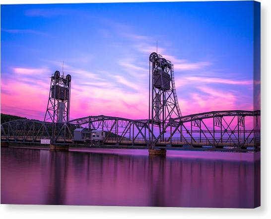 Sunsets Canvas Print - Stillwater Lift Bridge by Adam Mateo Fierro