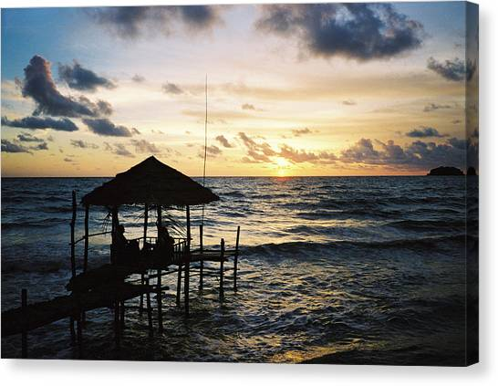Canvas Print - Stilt Over-water Bungalow by Christine Rivers