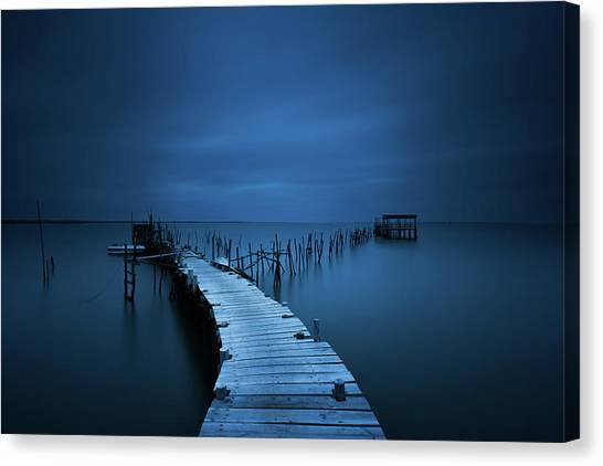 Pier Canvas Print - Stilts by Miguel Moreno