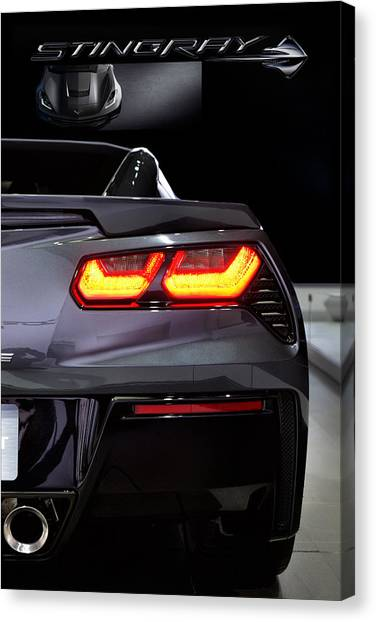 General Motors Automobiles Canvas Print - Stingray Tail by Peter Chilelli