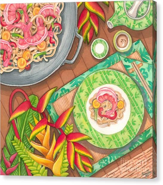Stir Fry  Canvas Print by Tammy Yee