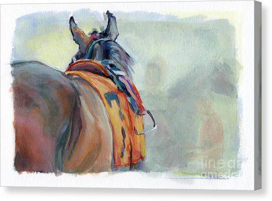 Thoroughbreds Canvas Print - Stirrup by Kimberly Santini
