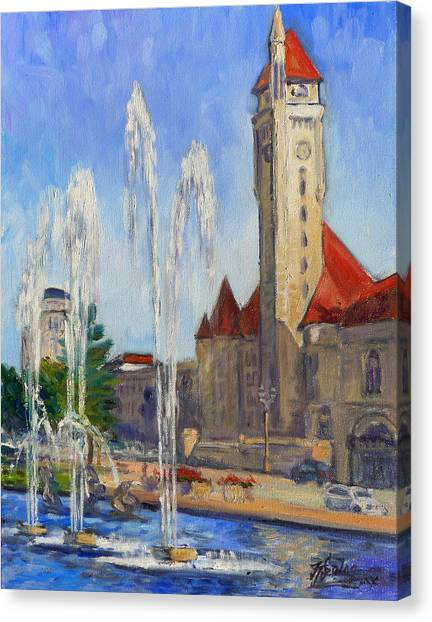 St.louis Union Station 1 Canvas Print