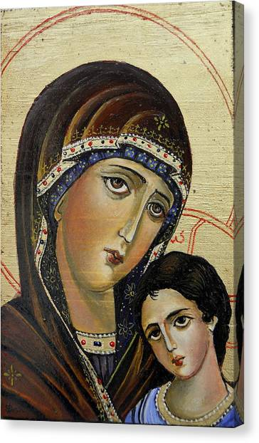 St.mary With  Jessus  Canvas Print