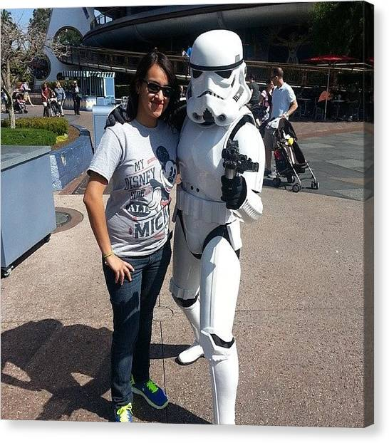 Stormtrooper Canvas Print - Stoked! Got To Take A Pic With A Storm by Ashley Sanchez