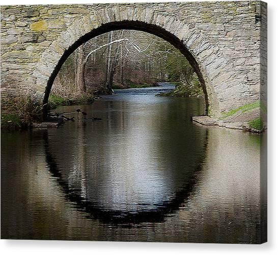 Stone Arch Bridge - Craquelure Texture Canvas Print