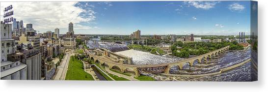 Stone Arch Bridge From The Air Canvas Print