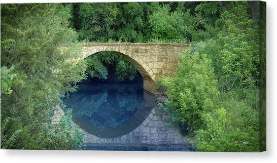 Stone Arch Bridge In Butler County Canvas Print