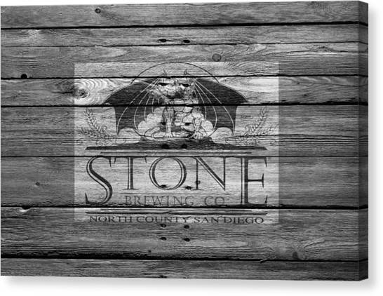 Beer Can Canvas Print - Stone Brewing by Joe Hamilton