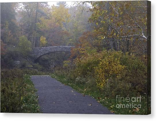 Stone Bridge In Autumn 3 Canvas Print