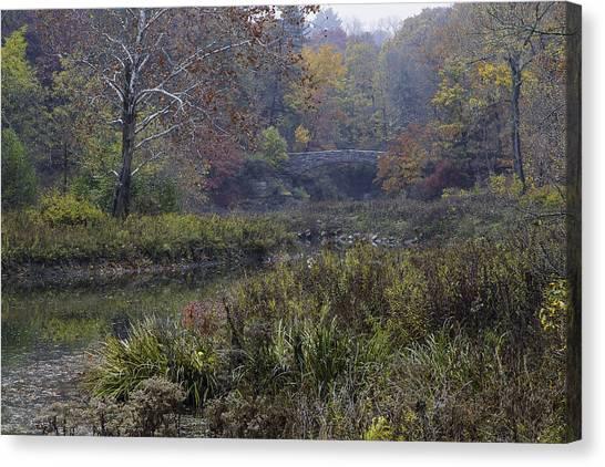 Stone Bridge In Autumn I Canvas Print
