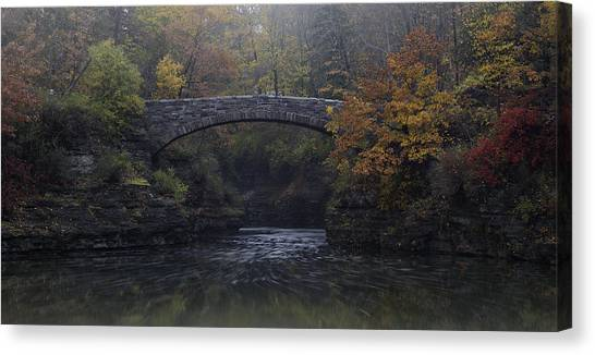 Stone Bridge In Autumn II Canvas Print