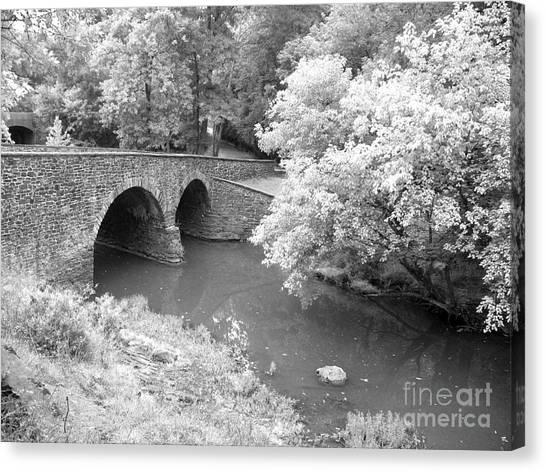 Canvas Print - Stone Bridge - Manassas by Christiane Schulze Art And Photography