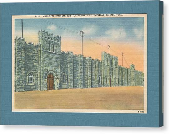 Stone Castle Bristol Tn Built By Wpa Canvas Print
