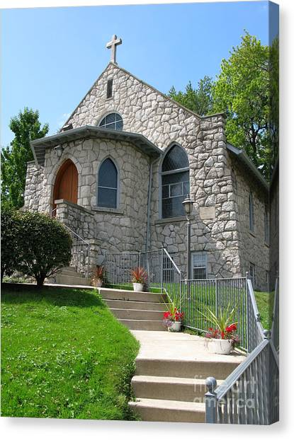 Stone Church Canvas Print