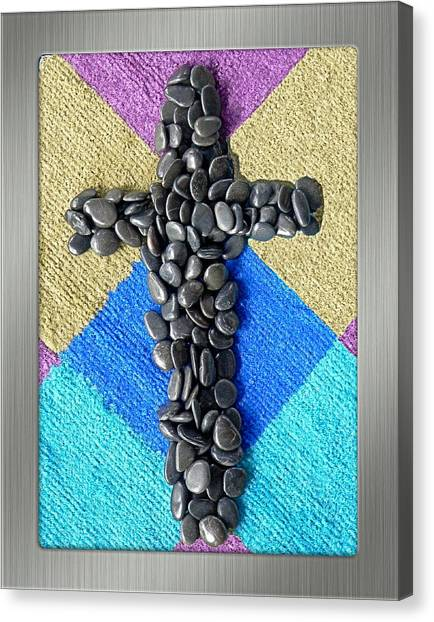 Stone Cross Canvas Print