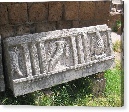 Stone In Tarquinia Canvas Print