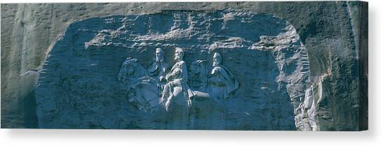 Stonewall Canvas Print - Stone Mountain Confederate Memorial by Panoramic Images