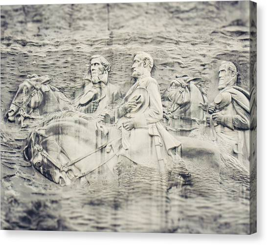 War Horse Canvas Print - Stone Mountain Georgia Confederate Carving by Lisa Russo