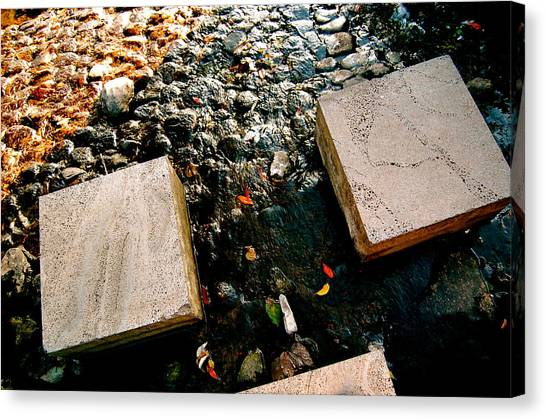 Canvas Print featuring the photograph Stone Walking by Yen