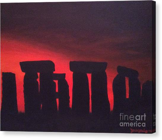Stonehenge At Dusk Canvas Print