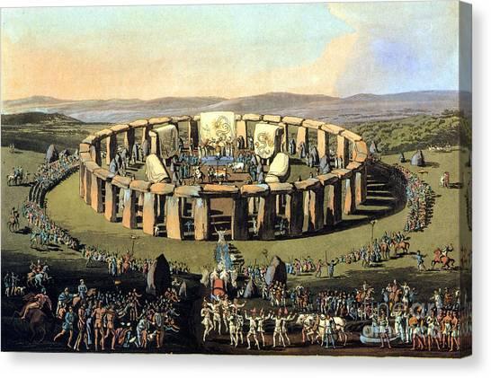 Briton Canvas Print - Stonehenge, Druid Festival by Science Source