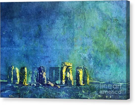 Stonehenge In Moonlight Canvas Print