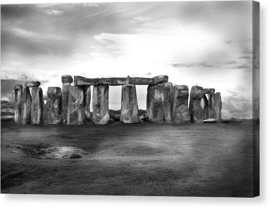Stonehenge In The Rain Canvas Print