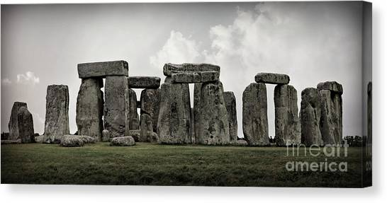 World Heritage Site Canvas Print - Stonehenge -- Mood 2 by Stephen Stookey