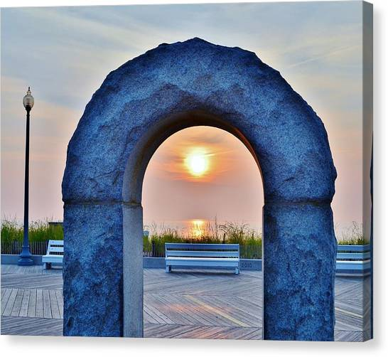 Sunrise Through The Arch - Rehoboth Beach Delaware Canvas Print